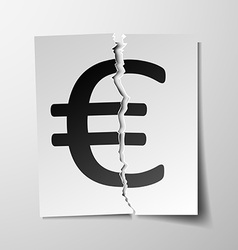 Euro currency symbol vector