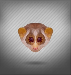 Abstract polygonal loris triangle animal vector