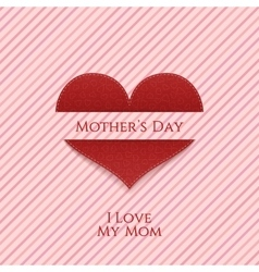 Mothers day heart realistic festive banner vector