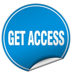 Get access round blue sticker isolated on white vector