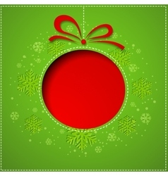 Abstract Christmas balls cutted from paper on vector image vector image