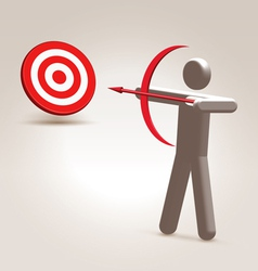 Aim the target vector image vector image