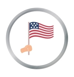 American flag icon in cartoon style isolated on vector image vector image