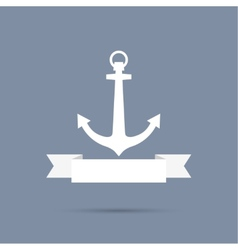 Anchor with ribbon vector image
