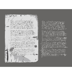 Ancient letter on old grunge paper for your design vector image vector image