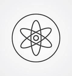 atom outline symbol dark on white background logo vector image
