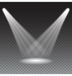 Beams from the spotlights vector image vector image