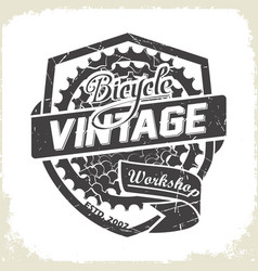 bicycles vintage sprocket logo vector image