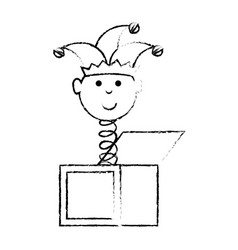box jack toy vector image