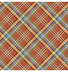 Brown beige diagonal plaid pixeled seamless vector