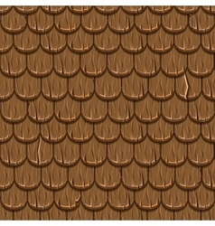 brown wooden old roofing Roof Tiles Seamless vector image