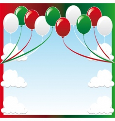 Christmas balloon background vector image vector image
