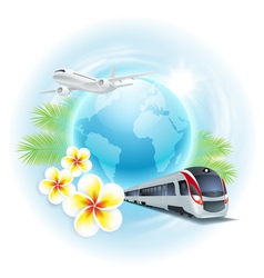 Concept travel vector image vector image