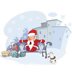 Cute Santa Claus and Christmas vector image vector image