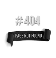 Error 404 ribbon banner page not found vector