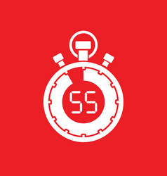 Fifty five minute stop watch countdown vector