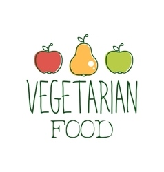 Fresh vegan food promotional sign with two apples vector