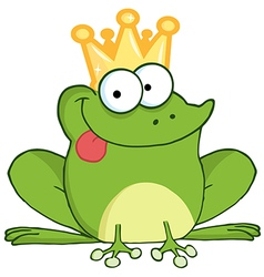 Frog Prince Cartoon Character vector image vector image
