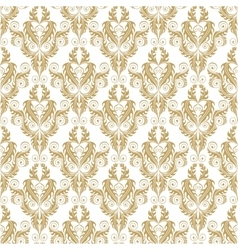 golden damask seamless pattern vector image vector image