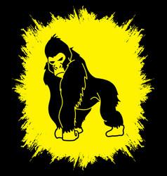 gorilla king kong angry big monkey graphic vect vector image