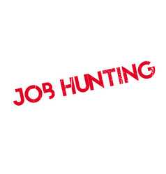 job hunting rubber stamp vector image