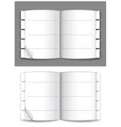 journal vector image vector image