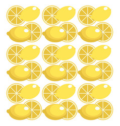 Lemon seamless pattern design vector