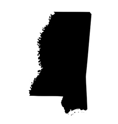 Map of the us state mississippi vector