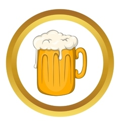 Mug with beer icon vector image vector image