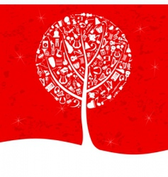 musical tree2 vector image vector image