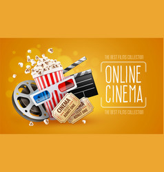 Online cinema art movie vector