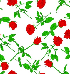 roses wallpaper pattern vector image vector image