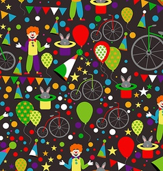 Seamless Pattern with Circus Clowns Balloons vector image