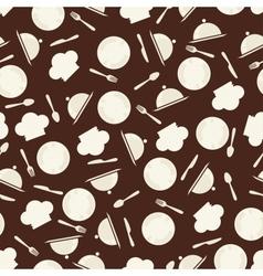 Seamless retro kitchen pattern vector image vector image