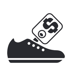 shoe price icon vector image