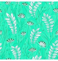 simplicity floral seamless vector image vector image