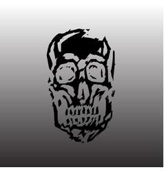 Spooky skull horror character creepymask vector