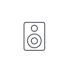 subwoofer speaker thin line icon linear vector image