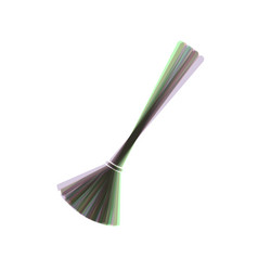 Sweeping broom sign colorful icon shaked vector