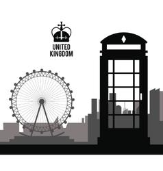 Telephone icon United kingdom design vector image vector image