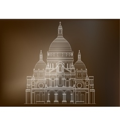 The sacred basilica sacre coeur in france - 3 vector