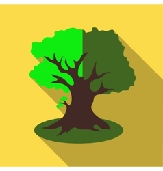 Thick tree icon flat style vector image vector image