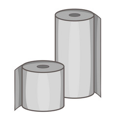 toilet paper icon cartoon style vector image vector image