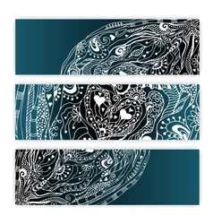 Unique Abstract Ethnic Pattern Card Set vector image vector image