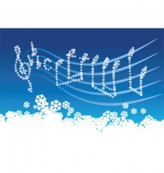 winter music vector image