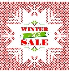 Winter Sale background banner poster vector image