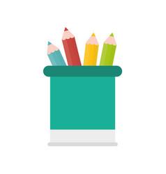 wooden pencil school vector image