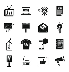 Advertisement icons set simple style vector