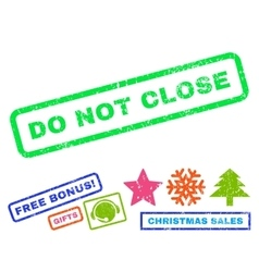 Do not close rubber stamp vector