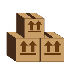 Carton box delivery service vector